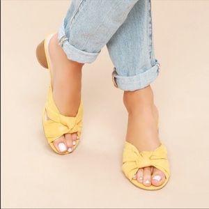 Lulu's Lucas Style Mustard Yellow Sandal